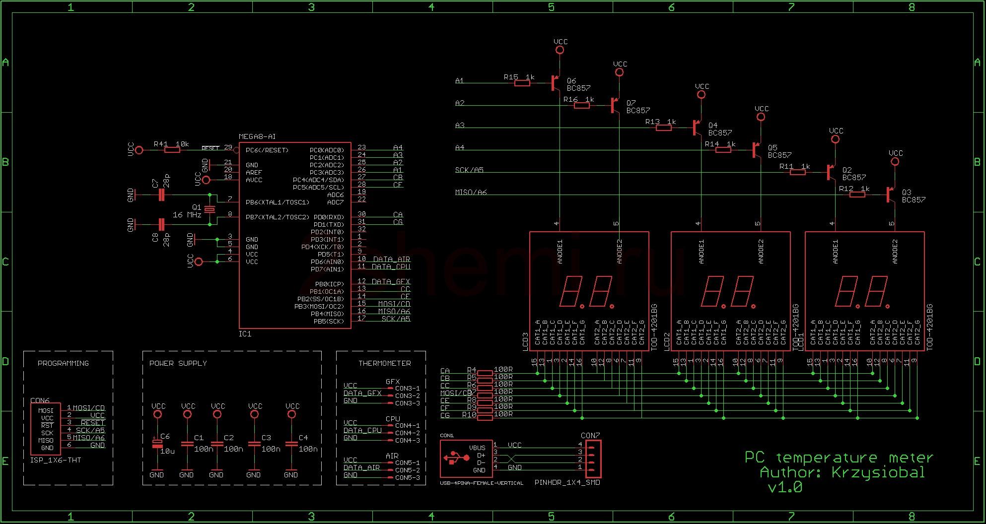 Самодельный измеритель температуры компьютера