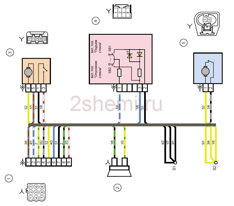 Схема Лада Калина 2: ВАЗ-2192, ВАЗ-2194
