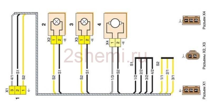 Схема ВАЗ-2170 - ВАЗ-21728 Лада Приора