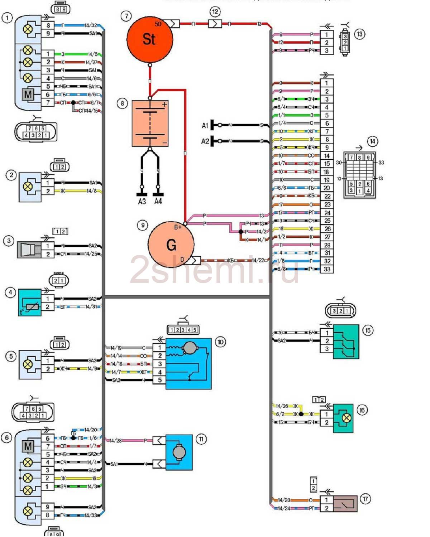 Схема ВАЗ-2123 Нива Шевроле