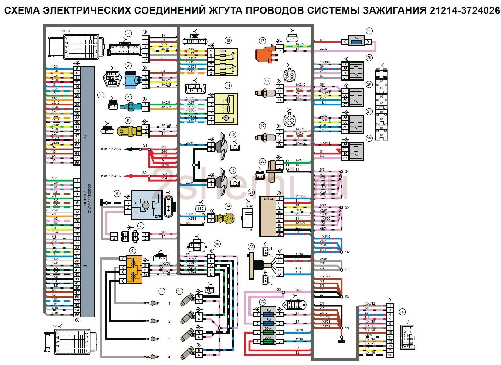 Схема ВАЗ-2121 Нива
