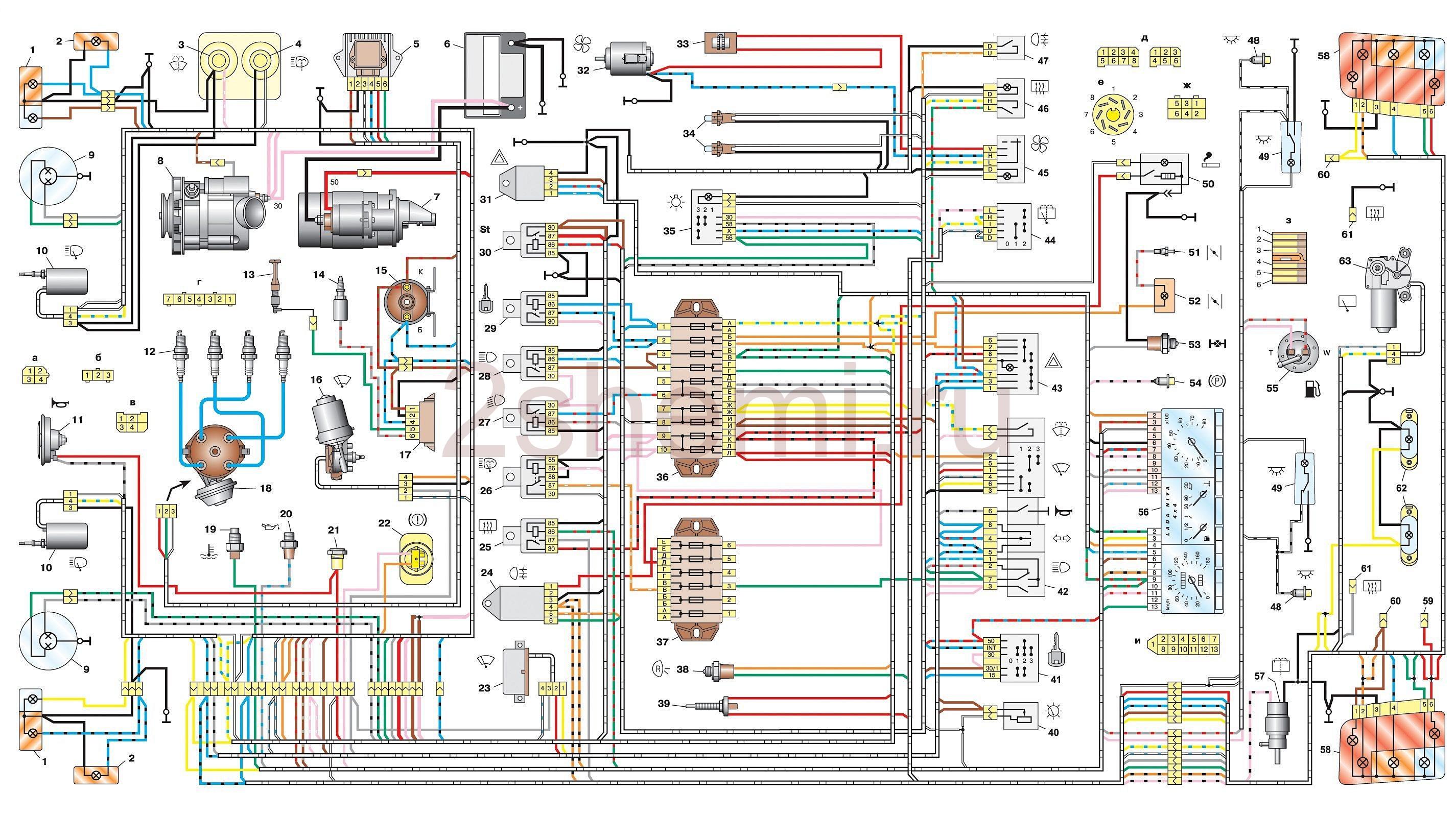 Схема ВАЗ-2129, BA3-2130, ВАЗ-2131, ВАЗ-2329