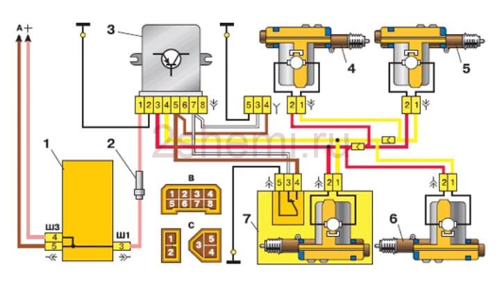 Схема ВАЗ-2111
