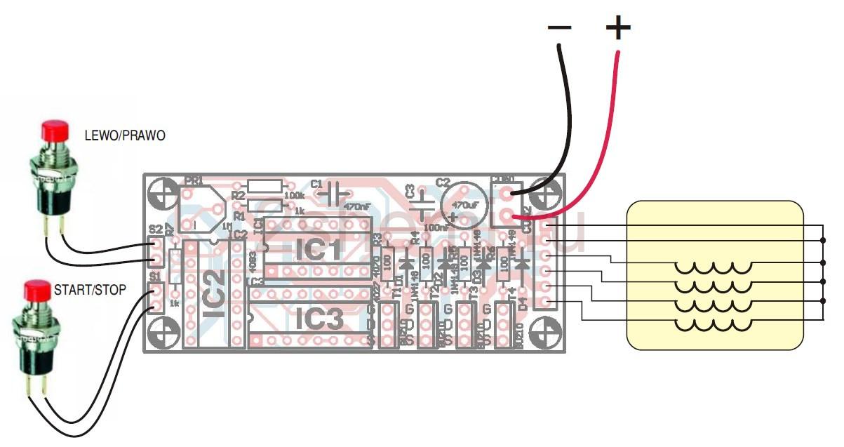 Простой драйвер шагового двигателя