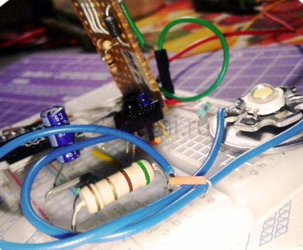 Бесконтактный выключатель для лампы самодельный