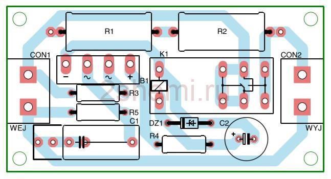 Схема мягкого старта на реле и резисторах