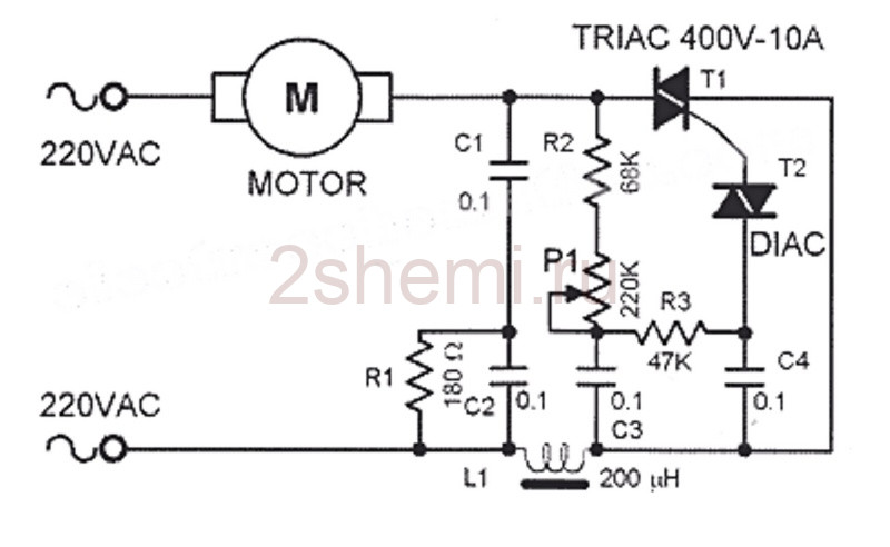 Плавный пуск для электроинструмента на 220 В