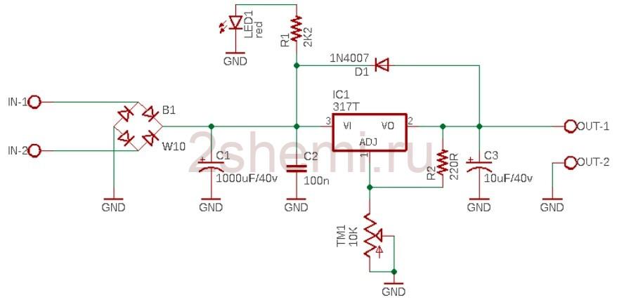 LM317 и ШИМ управление от Arduino