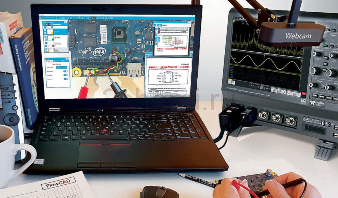 Сборка схем и ремонт плат по технологии дополненной реальности