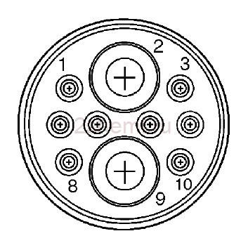 Круглые разъемы CPC: цоколёвка и описание всех серий