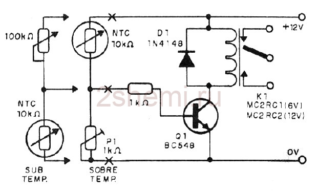 NTC датчик температуры для включения вентиляторов