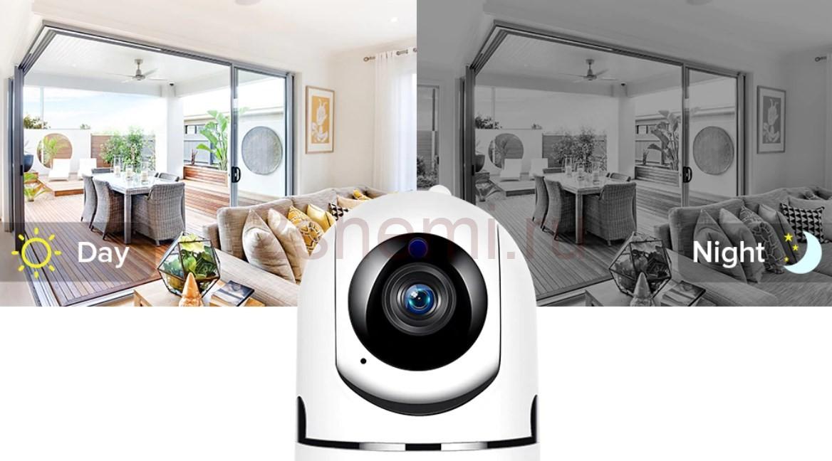 Беспроводная IP мини камера видеонаблюдения с отслеживанием