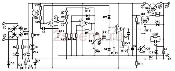 Схема профессионального лабораторного БП
