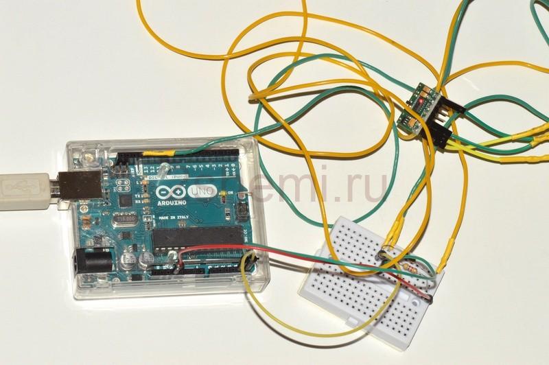 Датчик пульса. Подключение и тест цифрового модуля пульсометра