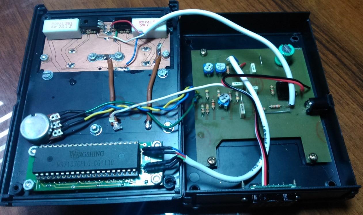 Схема нагрузки для постоянного тока