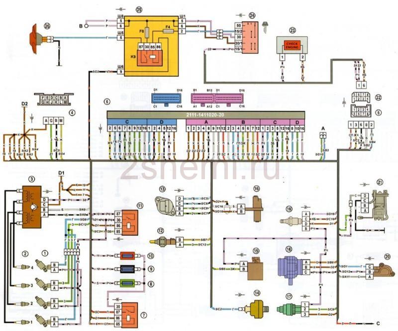 Схема ВАЗ-2109