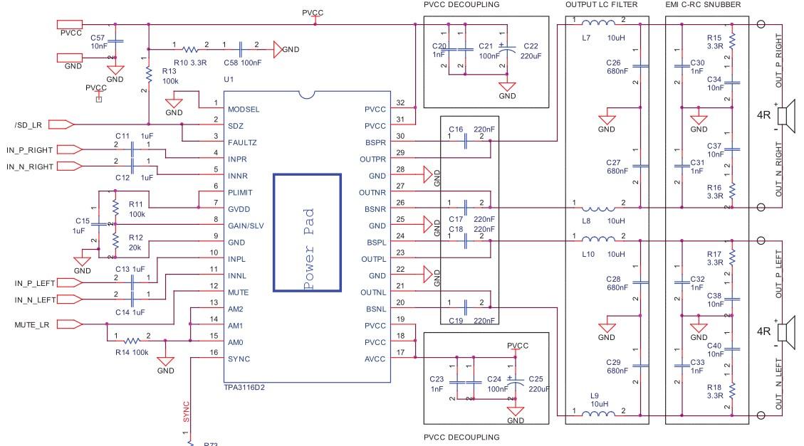 Стерео усилитель 50 Вт в классе D на китайском модуле
