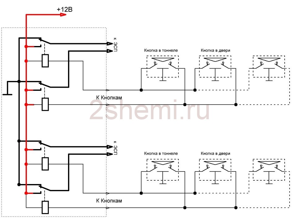 vaz steklopodemnik 19 - Электрическая схема подключения стеклоподъемника